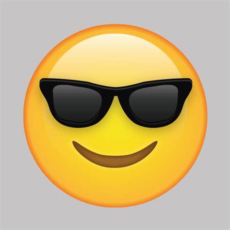 cool face  sunglasses emoji vinyl wall decal  decal bros