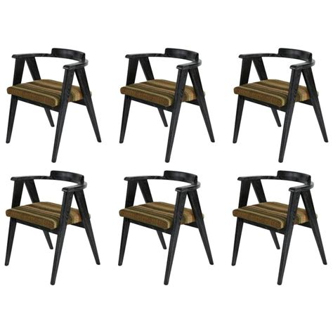 six solid oak cerused dining chairs for sale at 1stdibs