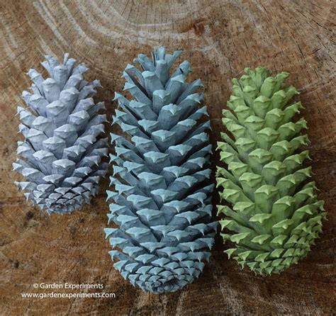 painted pine painted pine cone table decoration