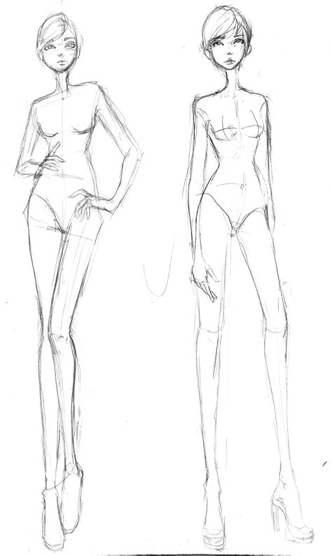 Fashion Designer Drawing Template by Fashion Illustration And Portfolio On Fashion