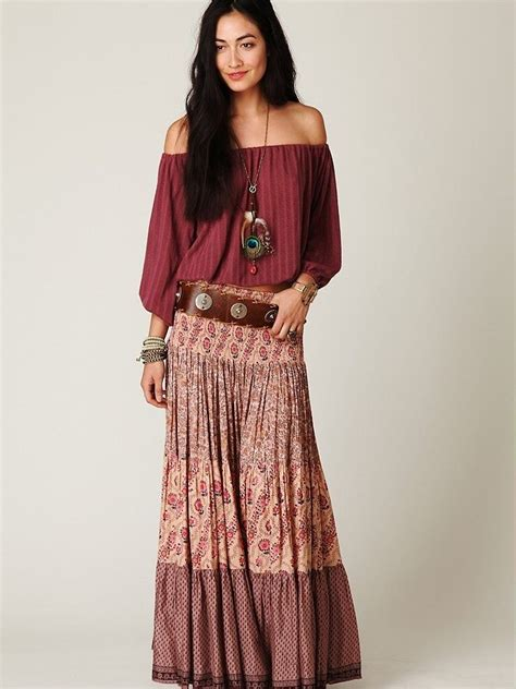 Chic Ideas of Bohemian Long Skirt Fashion Styling u2013 Designers Outfits Collection