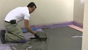 How to float and prepare floor for tile installation youtube for How to prepare a floor for tile
