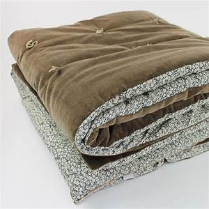 Plaid De Lit : plaid courtepointe bout de lit en velours coton bronze tosca en fil d 39 indienne decoclico ~ Teatrodelosmanantiales.com Idées de Décoration