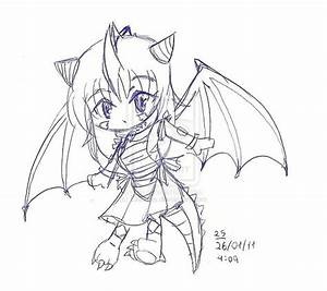 OC Chibi dragon girl by Lilitenha on DeviantArt