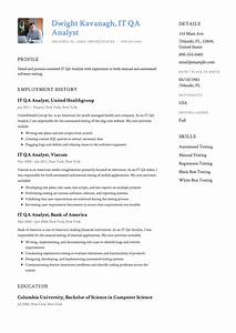 It Qa Analyst Resume  U0026 Guide
