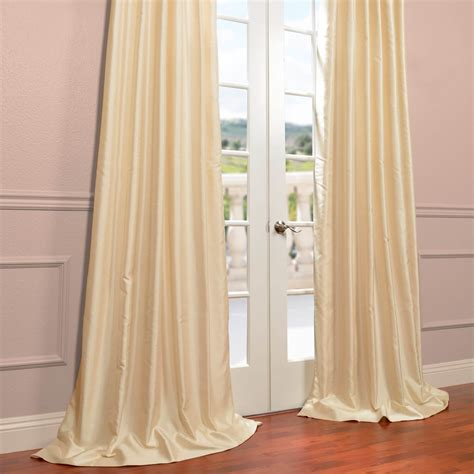buy winter ivory yarn dyed faux dupioni silk curtains
