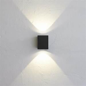 Außenleuchte Wand Led : baleno quadi led wand aussenleuchte up down schwarz 42974 ~ Whattoseeinmadrid.com Haus und Dekorationen