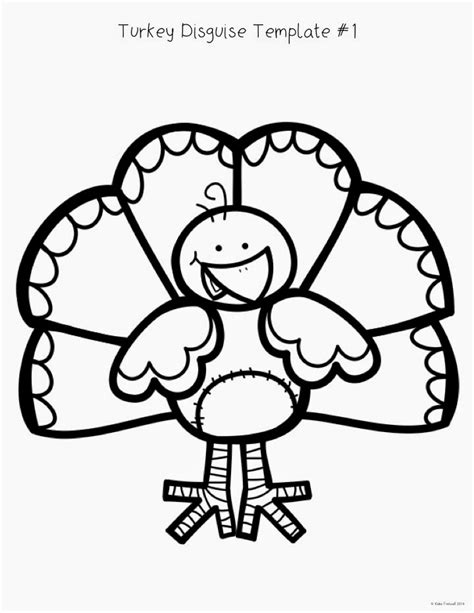 disguise a turkey template simply creative teaching fall favorites hop