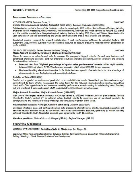 Software Resume by Software Sales Resume Exle