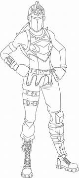 Knight Skin Fortnite Coloring Pages Printable Renegade Raider Prints sketch template