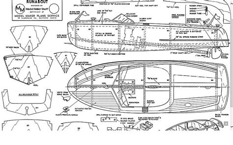 runabout model boat plan plans aerofred