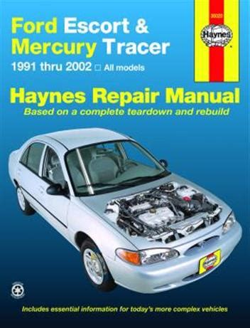 how to download repair manuals 1993 mercury tracer head up display ford escort mercury tracer 1991 2002 haynes owners service repair manual 156392840x