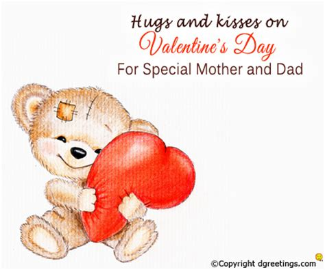 special mother  dad valentines day family cards