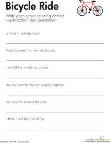 fix the sentences bicycle ride second