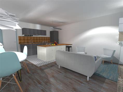 petit ilot de cuisine cuisine salon 20m2 cuisine en image