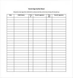 Uniform Sign Out Sheet Template