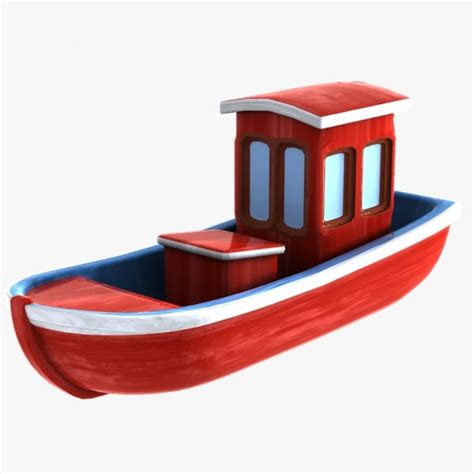 Cartoon Boat C4d by Cartoon Boat Toon 3d Max