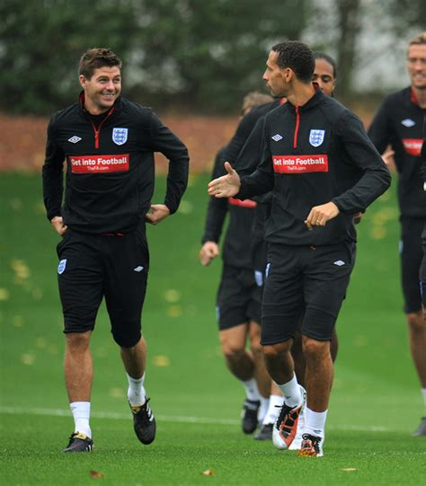 Steven Gerrard Pictures  England Training & Press