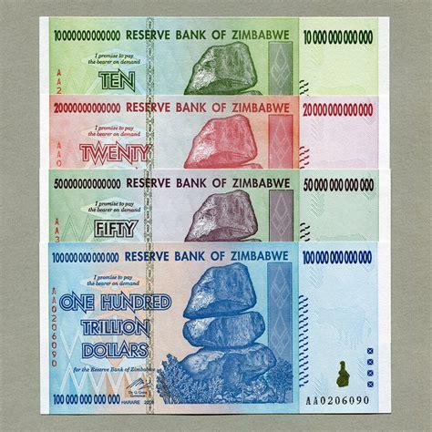 zimbabwe     trillion dollars  full set unc currency bills ebay