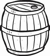 Barrel Cartoon Wooden Keg Clipart Vector Drawn Hand Clip Alcohol Beer Wood Sketch Cliparts Coloring Silhouette Illustration Drink Antique Background sketch template
