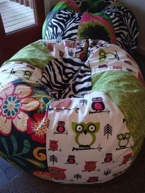 funky retro owls floral and zebra bean bag chair bags