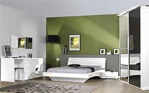 Chambre Complete Adulte : chambre adulte compl te design laqu e blanche chiara avec ~ Carolinahurricanesstore.com Idées de Décoration