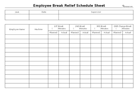 employee break relief system