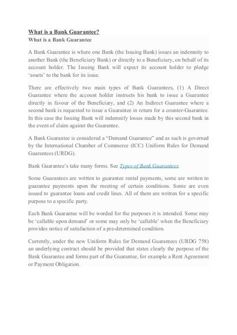 leasing bank guarantee