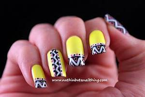 nuthin but a nail thing — Barry M Neon Yellow and Neon