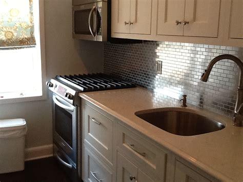 steel backsplash kitchen stainless steel 1x2 kitchen backsplash subway tile outlet