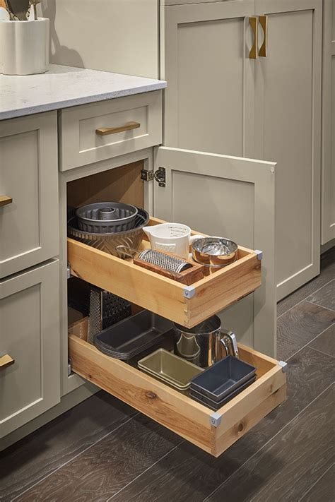 base cabinet  roll trays diamond cabinetry
