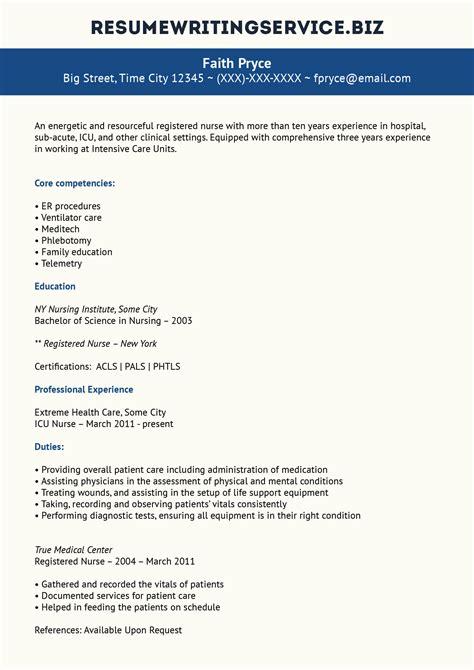 Icu Rn Resume by Remarkable Icu Resume Exle