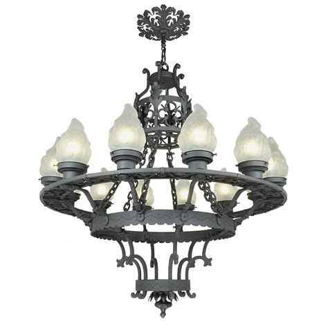 vintage iron chandelier large 12 light chandelier antique cast wrought iron