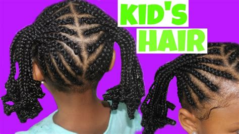 cornrows  ponytails child natural hair youtube