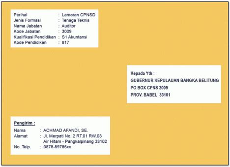 Map Untuk Melamar Pekerjaan by Contoh Cara Menulis Lop Lamaran Radio Lombok