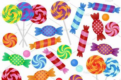 Candy Clipart Clip Candies Banner Vectors Coated