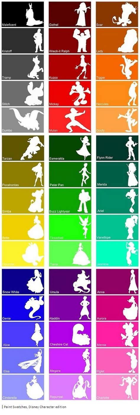 disney paint colors pictures to pin on pinsdaddy