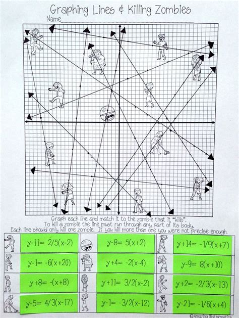 math worksheets point slope puzzles equation and