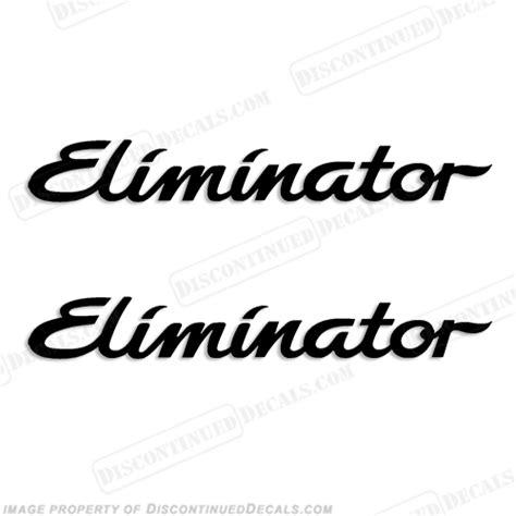 Eliminator Boats Logo eliminator boat decals set of 2 any color