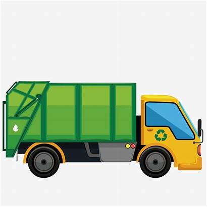 Garbage Truck Clipart Vector Transparent Silhouette Clip