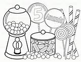 Coloring Pages Lollipop Candy Land sketch template