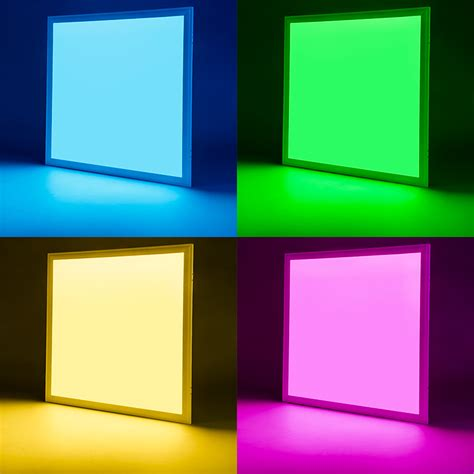 rgb led panel light 2x2 36w dimmable even glow 174 light fixture 24 vdc low voltage led