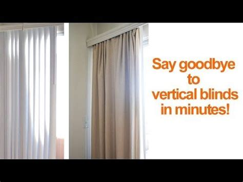 replace vertical blinds  curtains  minutes