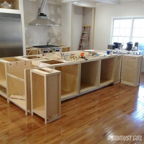 how to make a kitchen island with base cabinets kitchen island sawdust