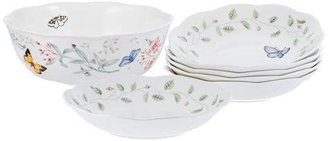 lenox butterfly meadow dinnerware pasta piece classic dinner salad bowl bowls dishes garden dish quatrefoil marinated shrimp option easy serving