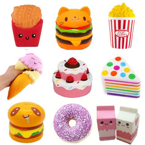 jumbo rising squishies scented craze squishy toy charms stress reliever lot ebay