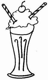 Milkshake Clipart Clip Drawing Milkshakes Cliparts Mmm Outline Colouring Library Oaoa sketch template