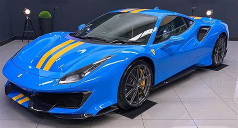 A small portion above the rear window wasn't covered up by the camouflage and it reveals a light blue color. Azzurro Dino Ferrari 488 Pista Reminds Us Of The IKEA ...