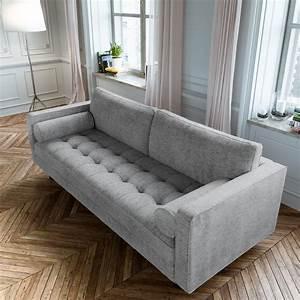 Scandormi, Modern, Sofa, Grey, Mid-century, Tufted, Couch