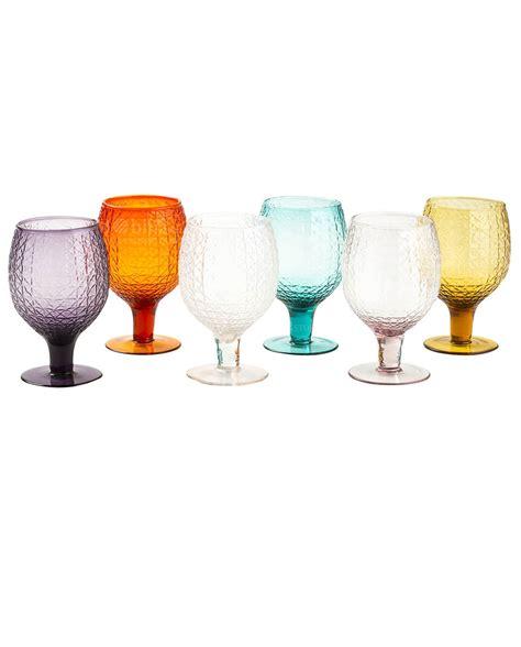bicchieri a calice colorati calici vetro colorati karma villa d este set 6 pz